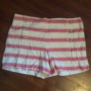 LOFT striped sailor shorts